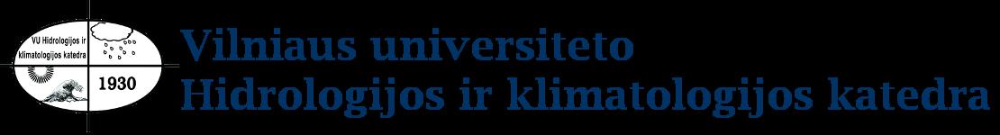 Vilniaus universiteto Hidrologijos ir klimatologijos katedra